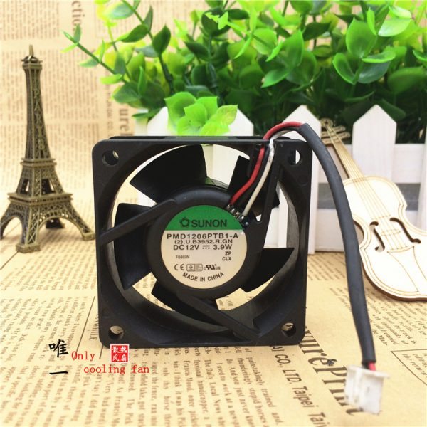 Free Shipping Original Sunon maglev PMD1206PTB1-A 6CM 60mm 6025 DC 12V 3.9W inverter server axial dual ball bearing Cooling fans