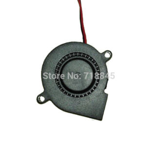 Black Brushless DC Cooling Blower Fan 2 Wires 2Pin 5015S 12V 0.14A 50x15mm P4PM