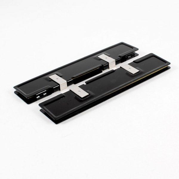 2 x Aluminum Heatsink Shim Spreader Cooler Cooling for DDR RAM Memory