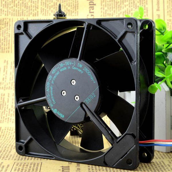 Free Delivery. W1G115 - AD09 48 v 5 w 12738-09 13 cm all metal high temperature fan line 3