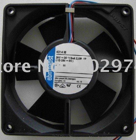 Original ebmPAPST 120*120*32MM 12cm 4314M 24V 2.6W Cooling Fan