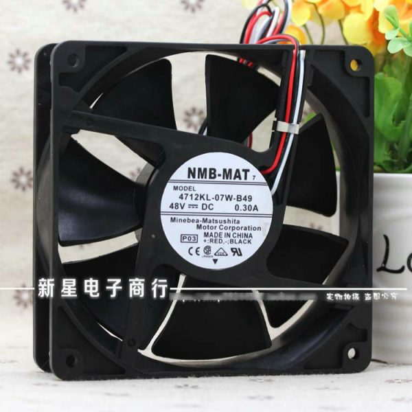 New Original NMB 4712KL-07W-B49 48V 0.30A 120*120*32MM Alarm Signal for ZTE ZXMP S385 S330 communication cooling fan