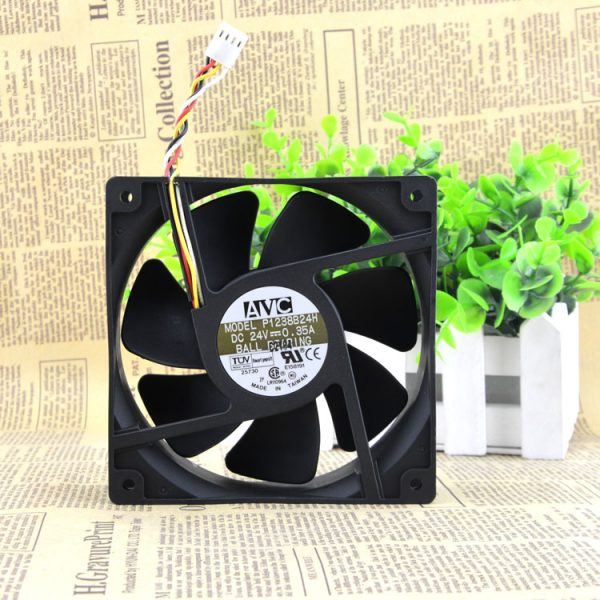 Free Delivery. P1238B24H 12 cm 12038 24 v 0.35 A four-wire inverter double ball bearing cooling fans
