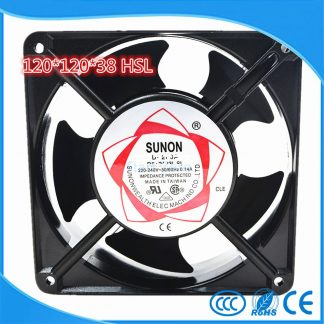 12038 P/N 2123 HSL AC 110 220 380 75CFM Axial flow fan 120mm 120x120x38mm Industrial Cooling Fan 2 Wires Copper