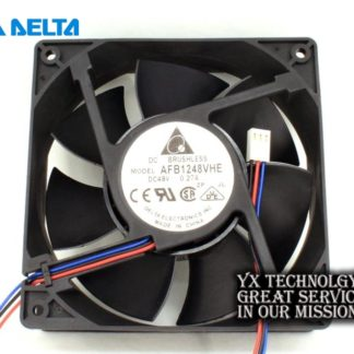 New AFB1248VHE 12038 12cm 48V 0.27A 3 wire dual ball bearing cooling fan for Delta 120*120*38mm