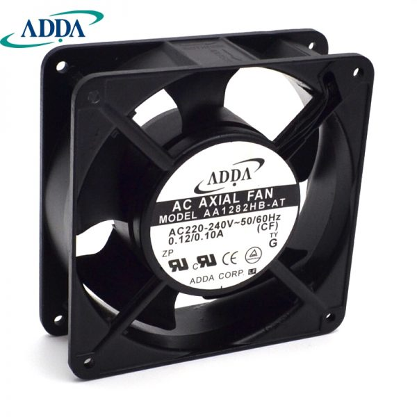 ADDA New and original cabinet dedicated axial fan AA1282HB-AT 220V 0.10A control cabinet cooling 120 * 120 * 38mm