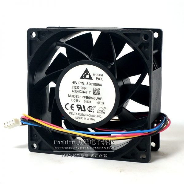 DELTA PFB0948UHE 9238 0.8A 90*90*38mm DC 48V 4-wire PWM Temperature Control Speed Regulating Cooling Fan