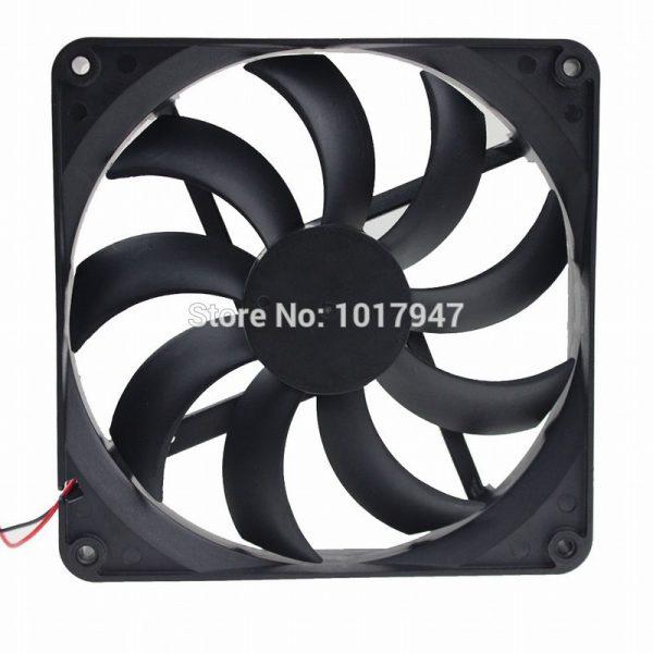5Pieces LOT Gdstime 12V 2Pin 14025 14cm 140mm x 25mm High Flow DC Radiator Cooler Fan