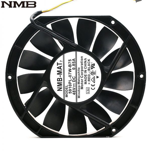 NMB 5910PL-07W-B75 17025 17cm 170mm DC 48V 0.85A slim industrial cabinet cooling fan