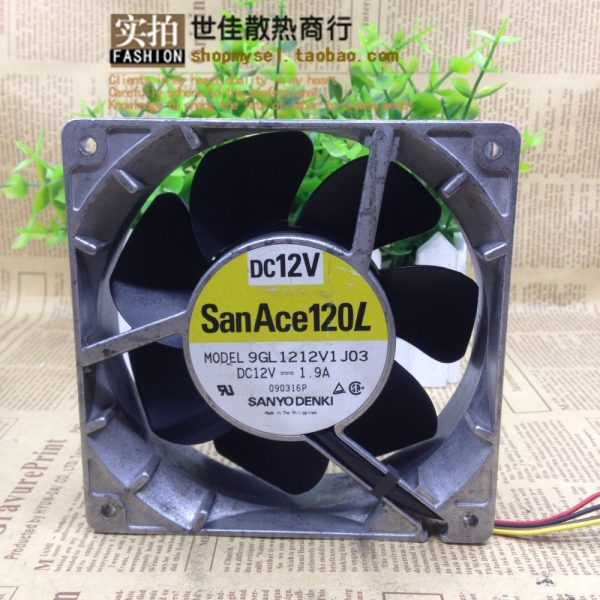 Sanyo 12038 12V 1.9A 9GL1212V1J03 120 * 120 * 38MM aluminum high temperature waterproof motorcycle modified violent fan