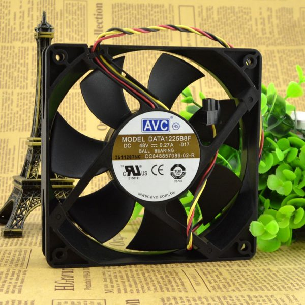 New original DATA1225B8F 12025 48v 0.27A 12CM / cm 3 line switch fan
