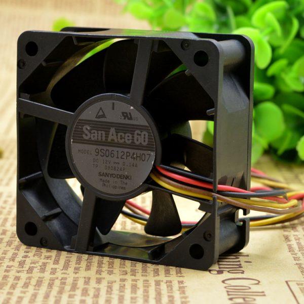 Original FOR SANYO DENKI SAN ACE 9S0612P4H07 6CM 12V 0.14A 6025 silence cooling fan