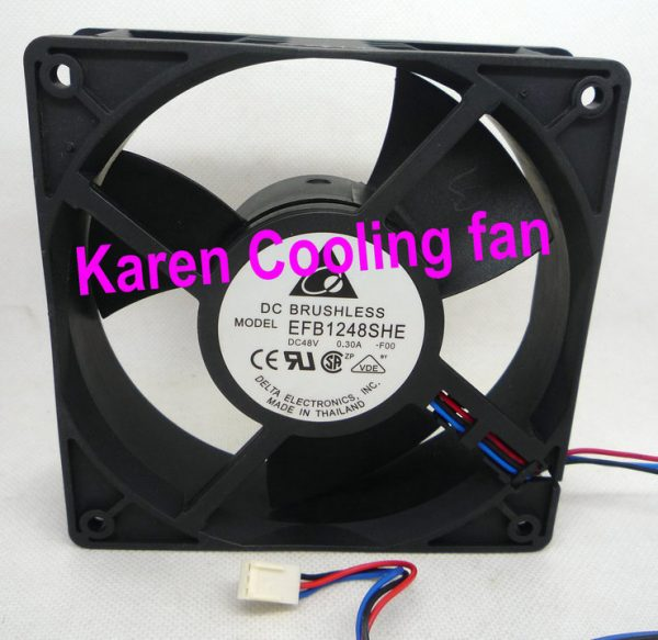 DELTA 2cm 12038 48v 0.3a 3wire EFB1248SHE Cooling fan