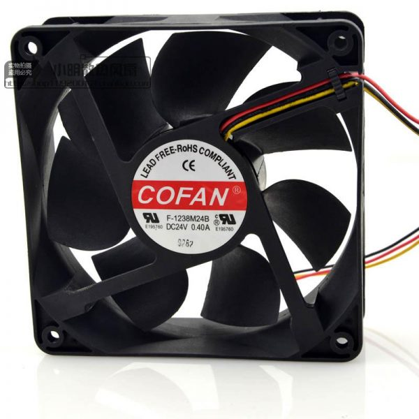 Free Delivery. F - 1238 m24b 24 v 0.40 A 12 cm 12038 double ball inverter fan violence