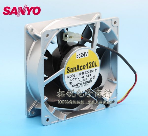 SANYO New 12CM 109L1224G101 24V 0.5A 12038 inverter cooling fan for 120*120*38mm