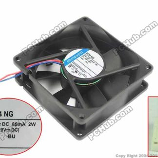 ebmpapst 8414 NG, 8414NG DC 24V 2W, 80x80x25mm , Connector Server Square fan