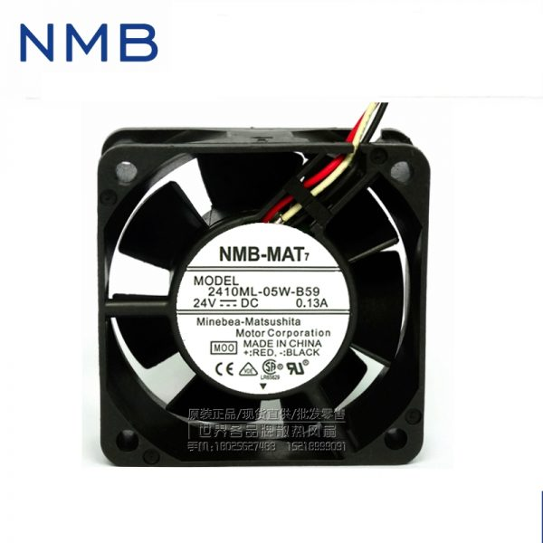 NMB original inverter cooling fan 2410ML-05W-B59 24V instrumentation axial fan 60*60*25mm 10pcs/lot