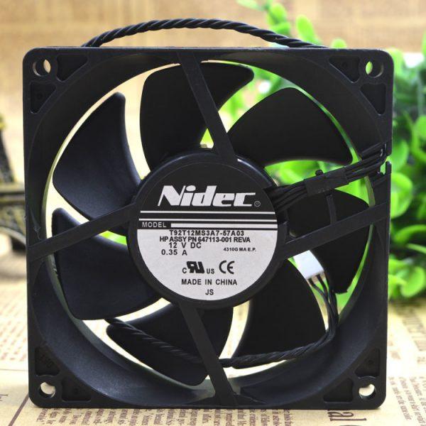 Original Nidec 9225 T92T12MS3A7-57A03 DC 12V 0.35A 4 line for HP workstation Cooling fan