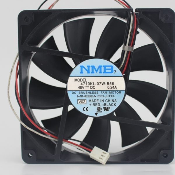 Original 4710KL-07W-B56 12025 12CM 48V 0.24A Industrial cooling fan