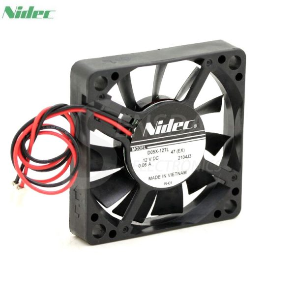 Original NIDEC D05X-12TL DC 12V 0.06A 5010 5CM 50mm Super silent quiet cooling fans