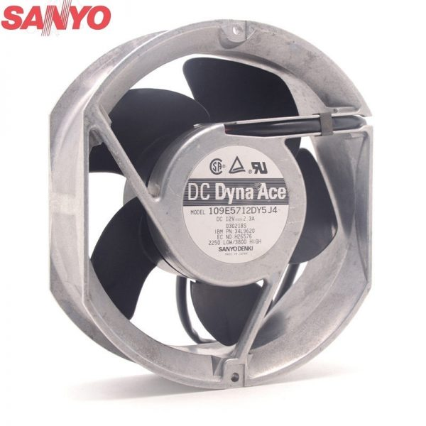 Original Sanyo Cooling fan 109E5712DY5J4 12V 2.3A 172*172*51MM metal frame case