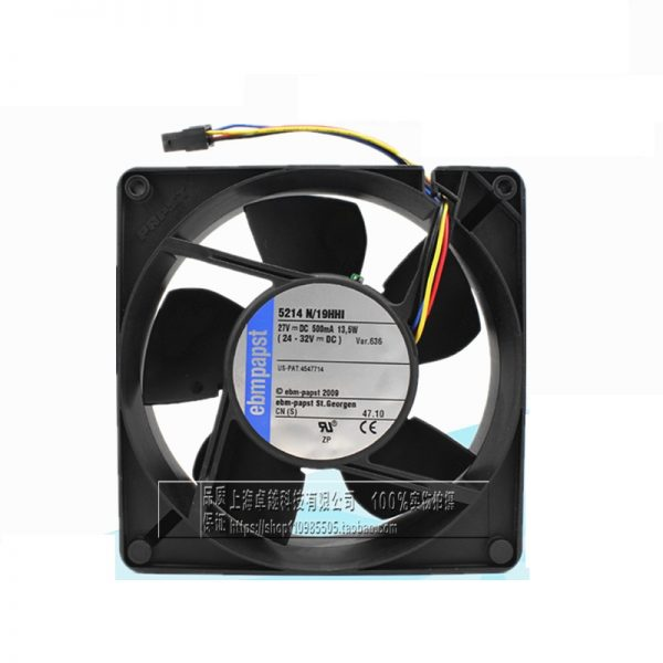 5214N / 19HHI high-end products original 12738 27V 13.5W 4-wire inverter fan