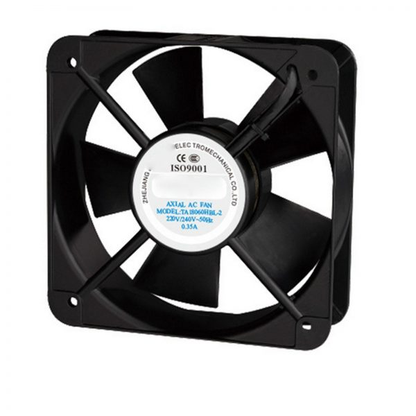 220V AC 180x180x60mm Axial Radiator Fan 255CFM 2500RPM Ball Bearing High Speed