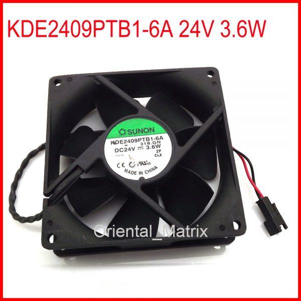 Free Shipping KDE2409PTB1-6A 24V 3.6W 90*90*25mm Cooler Cooling Inverter Fan