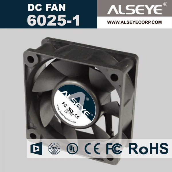 ALSEYE 6025RVL-N1 (5piece/lot) axial cooling fan DC 12v 0.22A 3000RPM Hydraulic Bearing DC fan for electrical repair