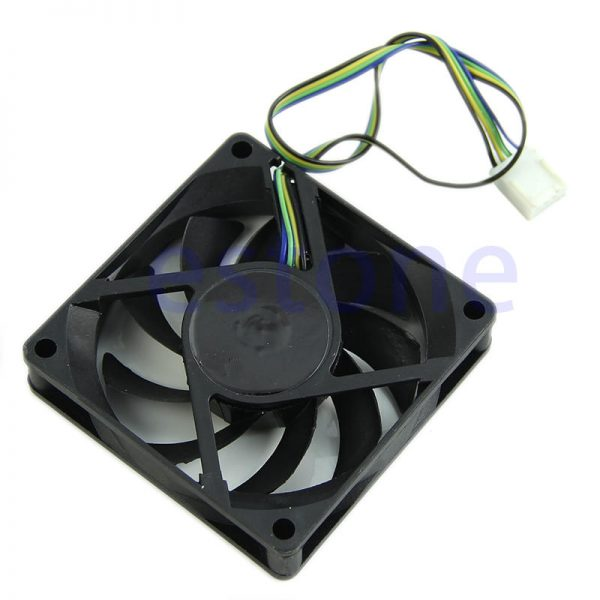 ANENG Black 4 Pin 12V DC 70x70x15mm Black Compuer Fan Cooler Brushless Cooling Blower Fan For Computer