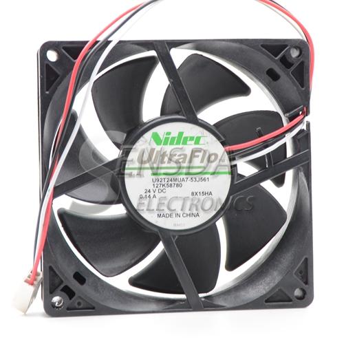 Nidec U92T24MUA7-53J561 9025 9225 24V DC 0.14A three wire server inverter fan