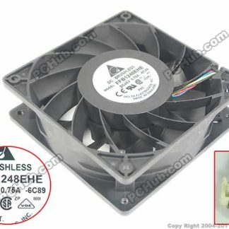 Delta FFB1248EHE 6C89 DC 48V 0.75A 120x120x38mm Server Square fan