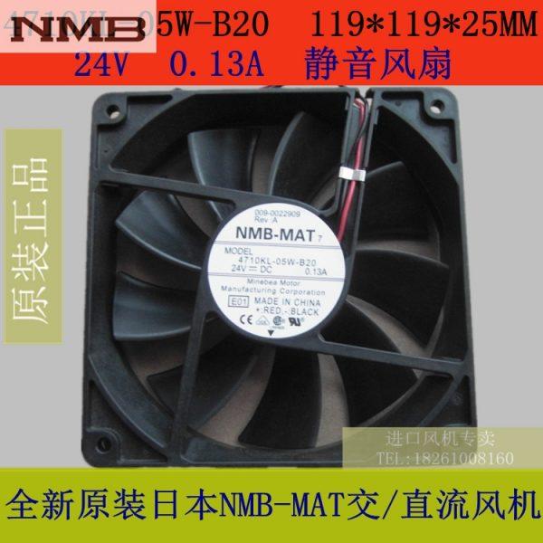 Original NMB fan 4710KL-05W-B20 119 * 119 * 25MM 24V silent fan