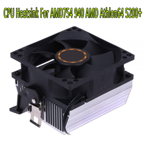 80*80*25mm Silent Computer Case 3pin CPU Cooling Cooler Fan CPU Heatsink 7 Blade For AMD for AMD754 939 940 AMD Athlon64 5200
