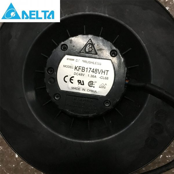 Original Delta KFB1748VHT 175x69mm 48V 1.36A 3600RPM 374.67CFM 70DBA inverter industrial centrifugal blower cooling fan