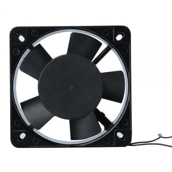 Black 120x120x25mm 2 Wire 0.1A AC Axial 220 240V Metal Industrial Cooler Cooling Fan