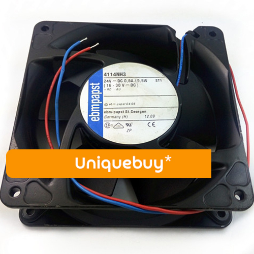 For ebmpapst 24V 4114NH3 Special axial fan for transmitter Aluminum frame Double ball bearing cooling fan