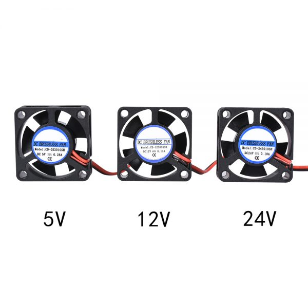 DIY Reprap DC 5V 12V 24V 2Pin Mini Cooling Brushless 3010 Fan 30MM 30x30x10mm Small Exhaust Fan