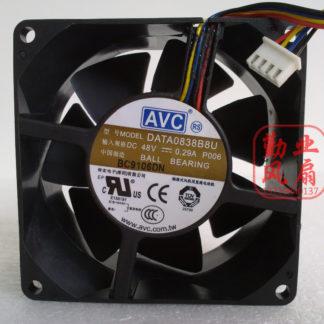 brand new Avc data0838b8u 8038 8cm 48v 0.29a 4 line dual ball bearing fan