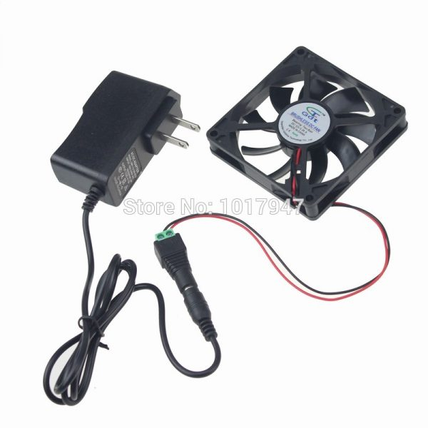 1PCS Gdstime 80mm x 15mm 8015 Ball AC 100v - 240v Cabinet Cooling Fan System Power Supply Adapter