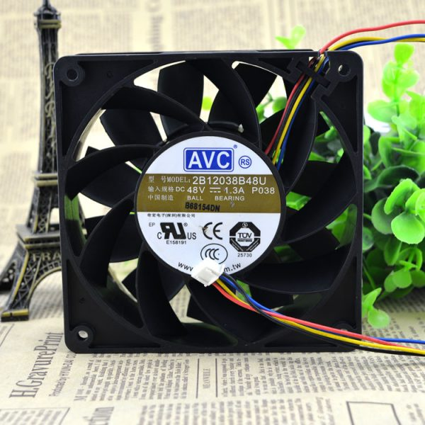 New original 2B12038B48U DC 48V 1.3A DC large air volume fan 12CM