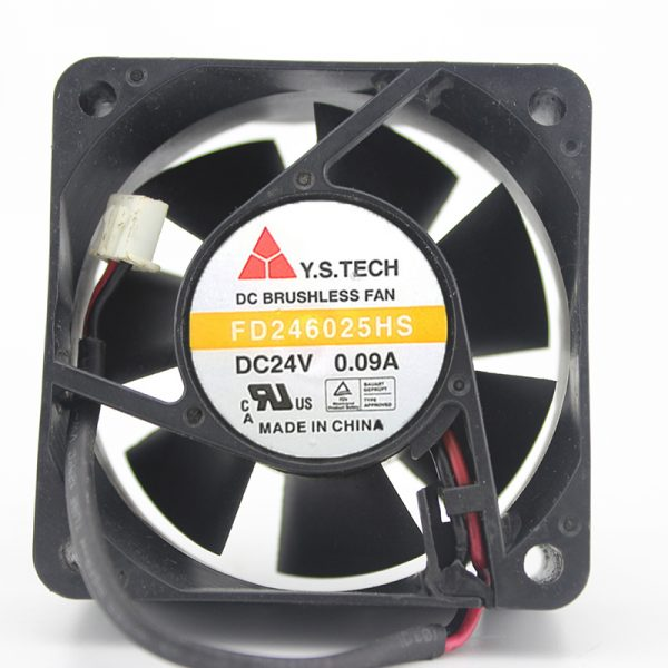 FD246025HB 24V 0.09A 6025 2 lines 6 cm inverter cooling fan