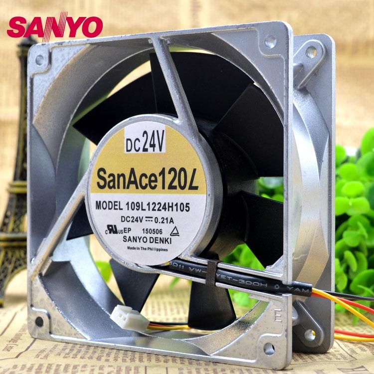 SANYO Brand new original inverter cooling fan fan 109L1224H105 24V Server  120*120*38Mmm