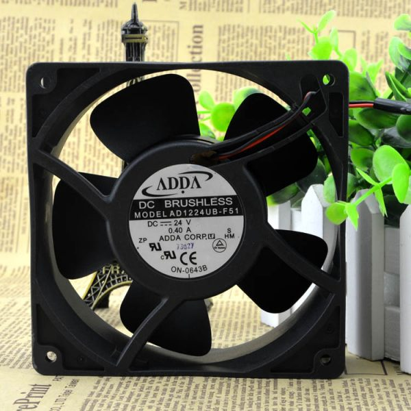 Original ADDA AD1224UB-F51 12038 24V 0.40A 12CM/cm Inverter fan