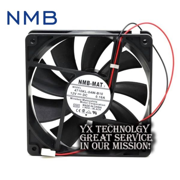 New and Original 4710KL-04W-B10 12025 12CM 0.16A mute chassis double ball bearing fan for NMB 120*120*25mm