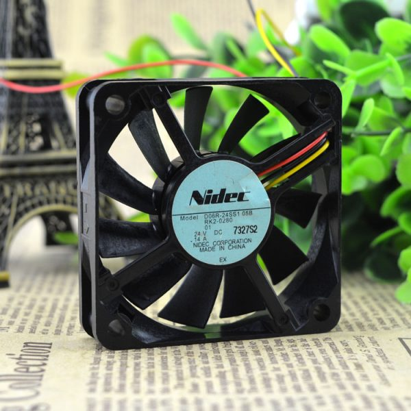 Free Delivery. 6015 6 cm 24 v 0.14 A 24 ss1 D06R - 05 b 3 line ultra-quiet inverter fan