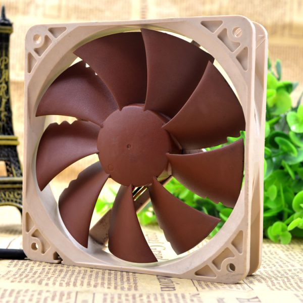 NF-P12 Mute Chassis CPU Water Cooling Row Graphics Cooling Fan DC 12V 1.08W 0.09A 12025 12cm 120*120*25mm 3 Wires
