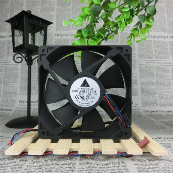 Original Delta AFB1212H 12V 0.35A 12CM 120*120*25 3-line Chassis Power Supply Cooling Fan