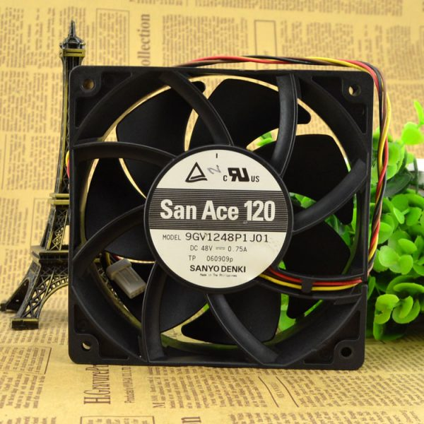 Free Delivery. 120 9 gv1248p1j01 fan 48 v 0.75 A server.
