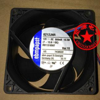 ebmpapst 8212JNR DC 12V 10.3W 80x80mm Server Square fan 2-wire
